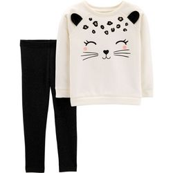 Carters Toddler Girls Leopard Sweatshirt Leggings Set