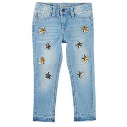 Vigoss Toddler Girls Sequined Star Skinny Jeans