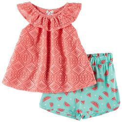 Forever Me Toddler Girls 2-pc. Lace Watermelon Short Set