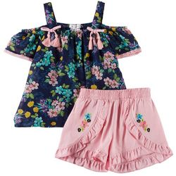 Forever Me Toddler Girls 2-pc. Floral Chiffon Short