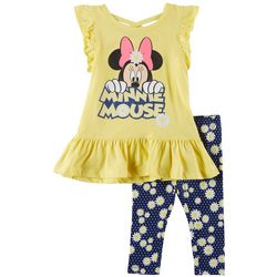Disney Minnie Mouse Toddler Girls Daisy Ruffle Leggings Set