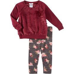 Forever Me Toddler Girls 2-pc. Plush Floral Leggings Set