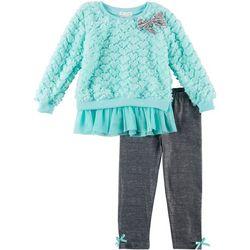 Forever Me Toddler Girls 2-pc. Heart & Bow Top Leggings Set