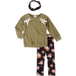 Forever Me Toddler Girls 3-pc. Floral Leggings set