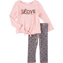 Forever Me Toddler Girls 2-pc. Love Leggings Set