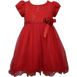 Bonnie Jean Toddler Girls Lace Tulle Skirt Dress