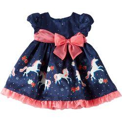 Bonnie Jean Toddler Girls Unicorn Holiday Dress