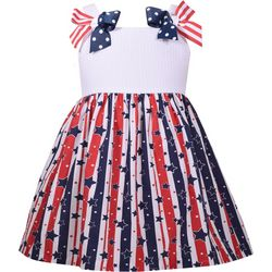 Bonnie Jean Toddler Girls Americana Stars and Stripes