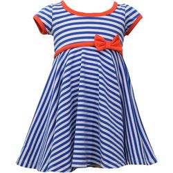 Bonnie Jean Toddler Girls Americana Striped Dress