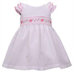 Bonnie Jean Toddler Girls Floral Smocked Dress