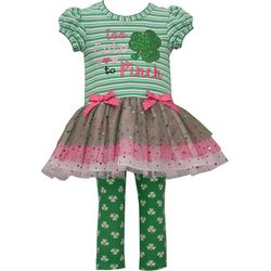 Bonnie Jean Toddler Girls St. Patricks Day Leggings Set