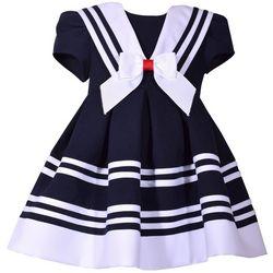 Bonnie Jean Toddler Girls Stripe Print Nautical Dress
