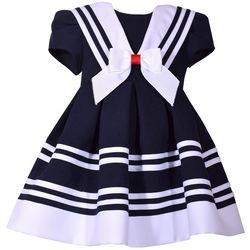 Bonnie Jean Toddler Girls Stripe Print Nautical Dress