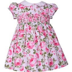 Bonnie Jean Toddler Girls Smocked Roses Dress