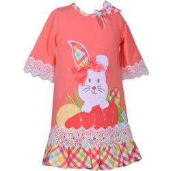 Bonnie Jean Toddler Girls Plaid Bunny Easter Dress