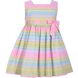 c0243a8e0a14 Bonnie Jean Toddler Girls Striped Bow Waist Dress