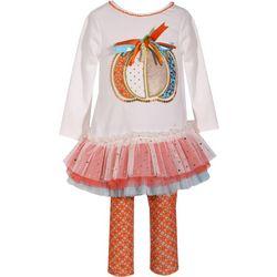 Bonnie Jean Toddler Girls Pumpkin Tutu Leggings Set