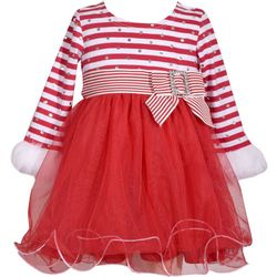 Bonnie Jean Toddler Girls Striped Holiday Dress