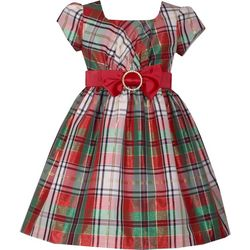 Bonnie Jean Toddler Girls Traditional Plaid Christmas Dress