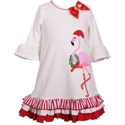 Bonnie Jean Toddler Girls Holiday Flamingo Dress