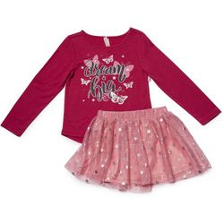 Love @ First Sight Toddler Girls Dream Big Tutu Skirt Set