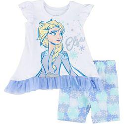 Disney Toddler Girls Frozen Elsa Tie Dye Shorts Set
