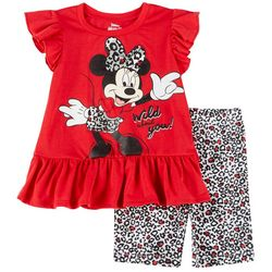 Disney Toddler Girls Minnie Mouse Wild About You Shorts Set