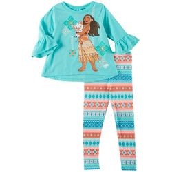 Disney Moana Toddler Girls Bell Sleeve Leggings Set