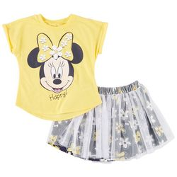 Disney Minnie Mouse Toddler Girls Floral Skirt Set