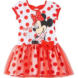 Disney Toddler Girls Minnie Mouse Polka Dot Tutu Dress
