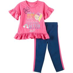 Nickelodeon JoJo Toddler Girls 2-pc. Bows Leggings Set