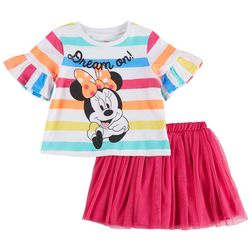 3811c29f9038 Disney Minnie Mouse Toddler Girls Dream On Skirt Set