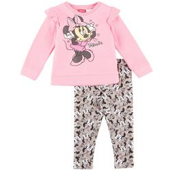 Disney Minnie Mouse Toddler Girls Ruffle Leggings Set
