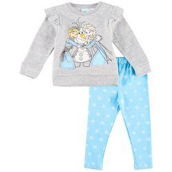 Disney Frozen Toddler Girls Olaf Ruffle Leggings Set