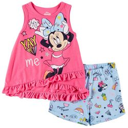 Disney Minnie Mouse Toddler Girls Yay Me Shorts Set