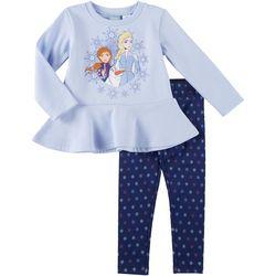 Disney Frozen Toddler Girls 2-pc. Fleece Elsa Leggings Set