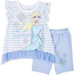 Frozen Toddler Girls In My Element Elsa Shorts Set