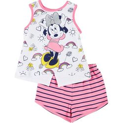 Disney Toddler Girls Stripe Minnie Mouse  Shorts Set
