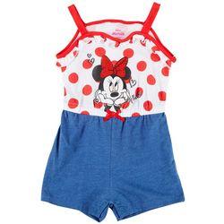 Disney Toddler Girls Polka Dot Minnie Mouse Romper