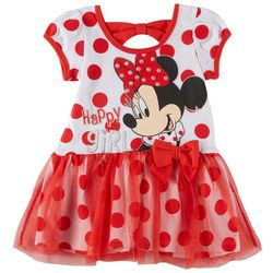 Disney Minnie Mouse Toddler Girls Happy Girl Tulle Dress