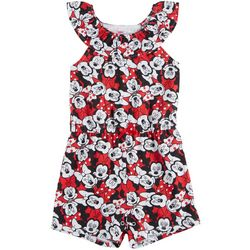 Disney Minnie Mouse Toddler Girls Ruffle Neck Romper