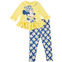 Disney Minnie Mouse Toddler Girls So Happy Leggings Set