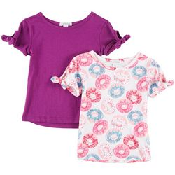 Flapdoodles Toddler Girls 2-pk. Donut & Solid T-Shirts