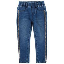 Flapdoodles Toddler Girls Glitter Stripe Pull-On Jeans