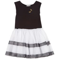 Flapdoodles Toddler Girls Bumble Bee Stripe Dress