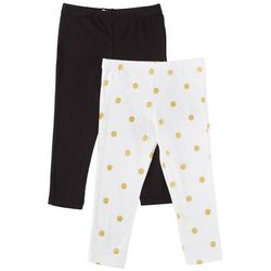 Flapdoodles Toddler Girls 2-pk. Polka Dot & Solid Leggings