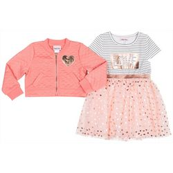 Little Lass Toddler Girls 2-pc. Love Tulle Dress