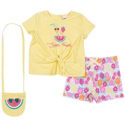 Little Lass Toddler Girls 3-pc. Super Fresh Short Set