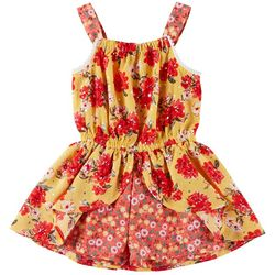Little Lass Toddler Girls Mixed Floral Romper