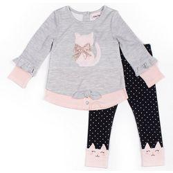 Little Lass Toddler Girls 2-pc. Cat Leggings Set